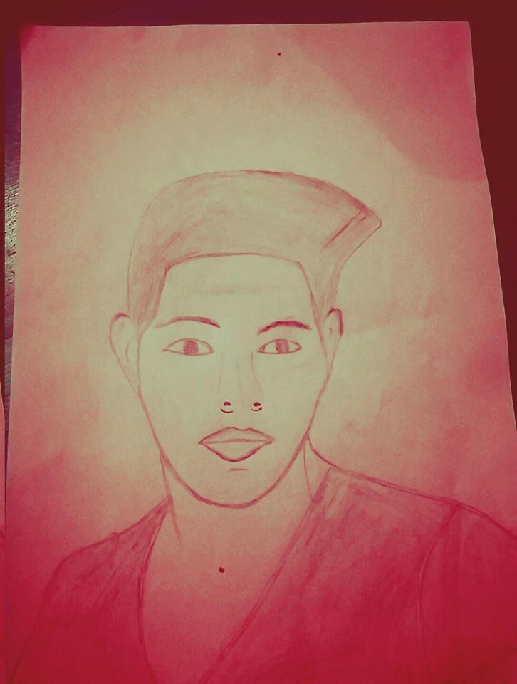 Jamal visar ett självporträtt och berättar att han har vunnit Lommacup